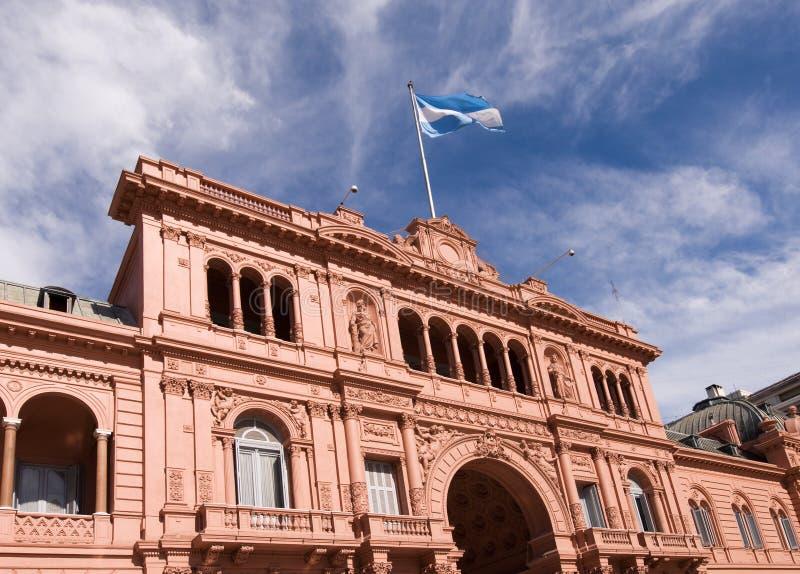 Palazzo presidenziale di Rosada delle case dell'Argentina fotografia stock libera da diritti