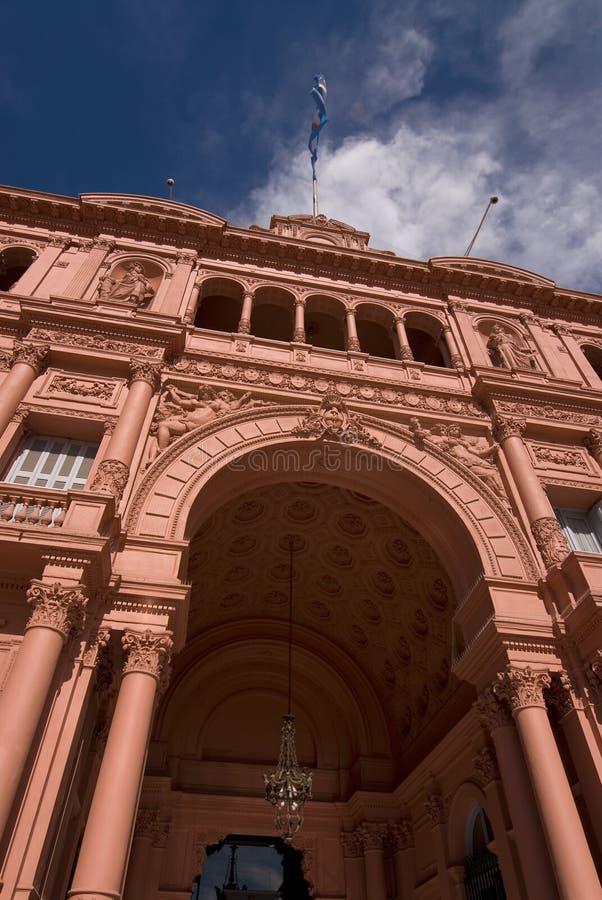 Palazzo presidenziale di Rosada delle case dell'Argentina immagine stock libera da diritti