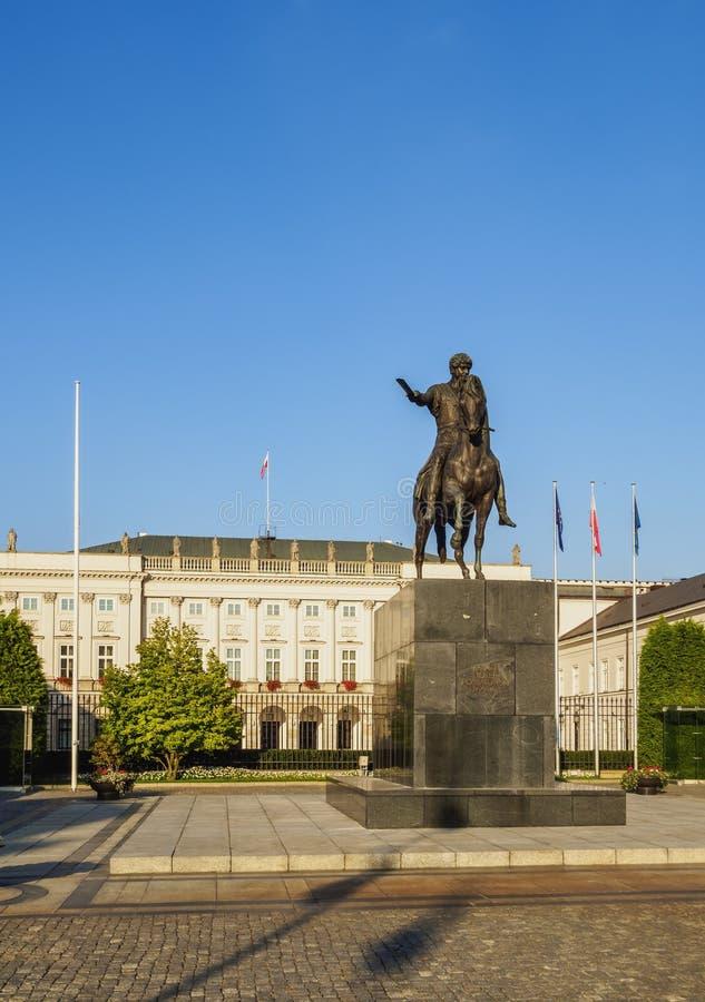 Palazzo presidenziale a Varsavia fotografia stock libera da diritti