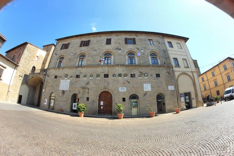 Palazzo Pretorio in Sansepolcro, Italië stock fotografie