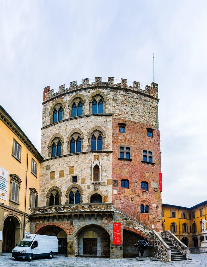 Palazzo Pretorio of Tuscan town of Prato, Italy royalty free stock photos