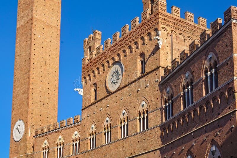 Palazzo Pubblico - Siena fotografia stock