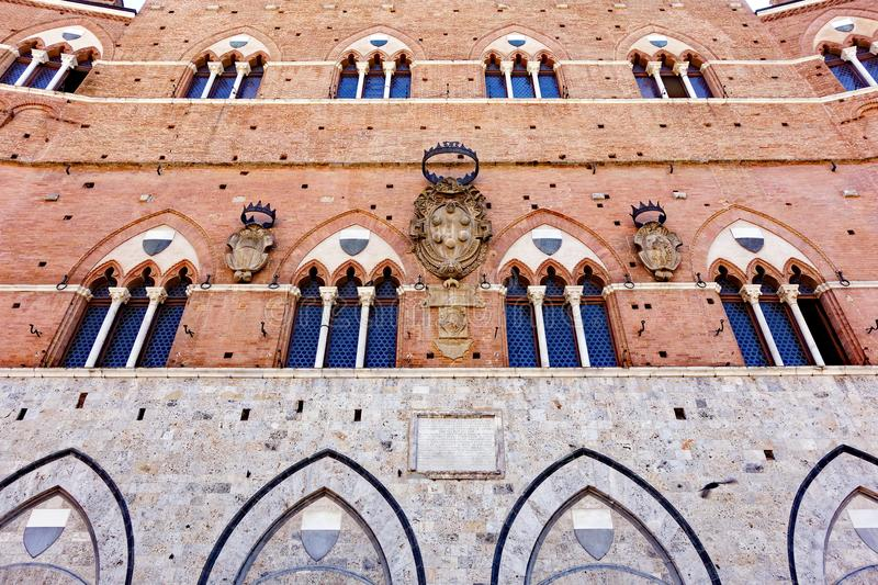 Palazzo Pubblico, Town Hall, Siena, Tuscany, Italy royalty free stock images