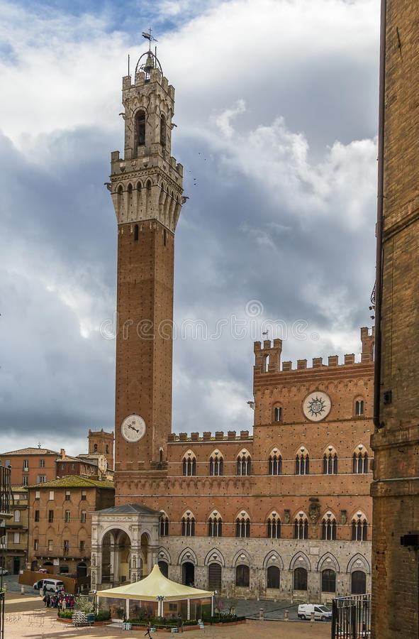 Palazzo Publico, Siena, Italy royalty free stock images