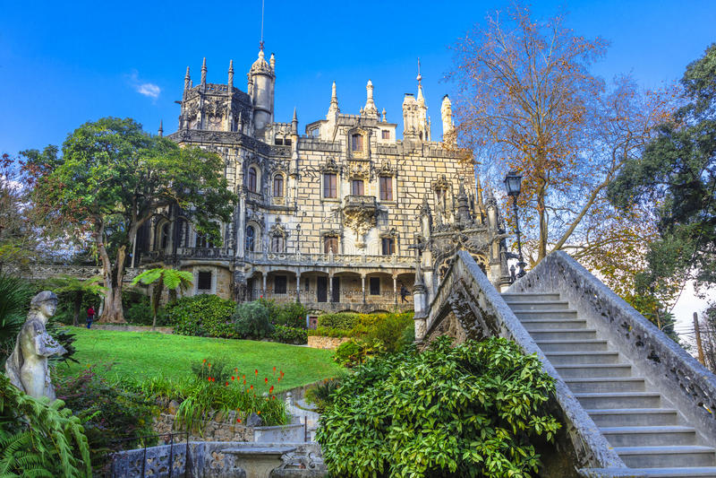 Palazzo Quinta da Regaleira in Sintra immagine stock libera da diritti