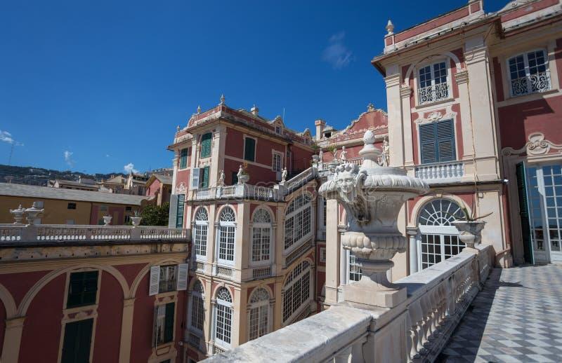 Palazzo Reale στη Γένοβα, Ιταλία, η Royal Palace, στην ιταλική πόλη της Γένοβας, περιοχή παγκόσμιων κληρονομιών της ΟΥΝΕΣΚΟ, Ιταλ στοκ εικόνες