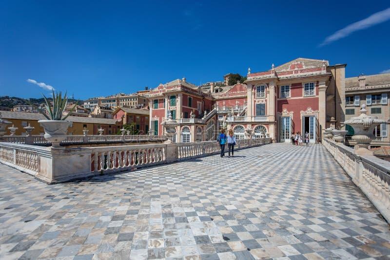 Palazzo Reale στη Γένοβα, Ιταλία Η Royal Palace στην ιταλική πόλη της Γένοβας, περιοχή παγκόσμιων κληρονομιών της ΟΥΝΕΣΚΟ, Ιταλία στοκ φωτογραφία
