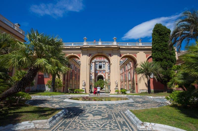 Palazzo Reale στη Γένοβα, Ιταλία, η Royal Palace στην ιταλική πόλη της Γένοβας, περιοχή παγκόσμιων κληρονομιών της ΟΥΝΕΣΚΟ, Ιταλί στοκ εικόνα