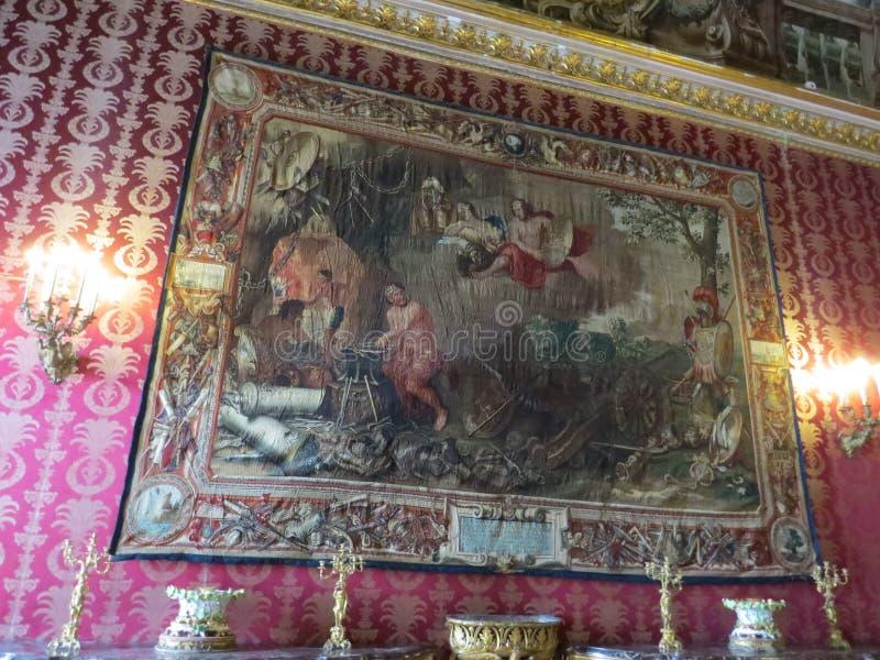Palazzo Reale -王宫在那不勒斯,意大利 免版税库存图片
