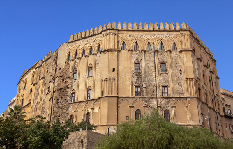 Palazzo Reale bis. Palazzo Reale (Royal palace) Norman side in Palermo, Sicily: the oldest royal seat in Europe royalty free stock image
