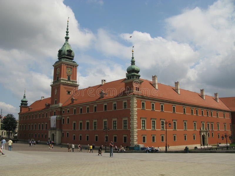 Palazzo reale di Varsavia, Polonia fotografia stock libera da diritti