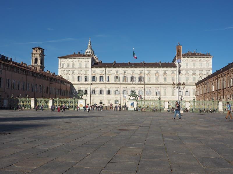 Palazzo Reale en Turín fotografía de archivo
