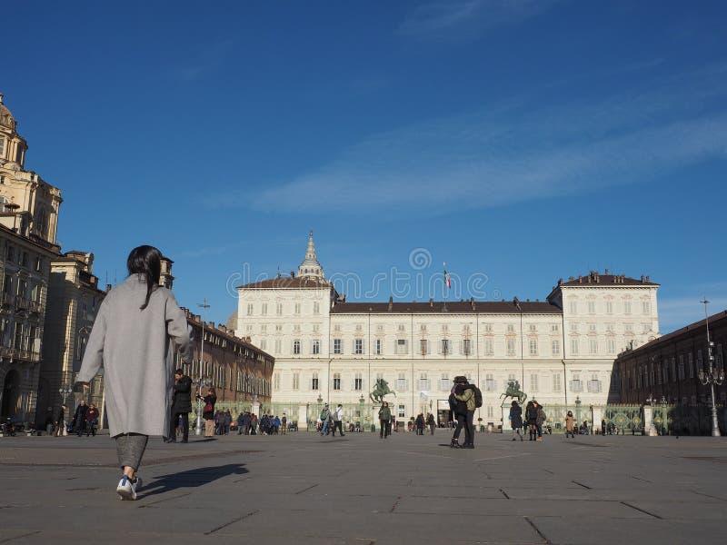 Palazzo Reale en Turín imagen de archivo