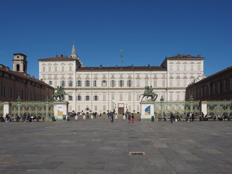Palazzo Reale en Turín imagenes de archivo