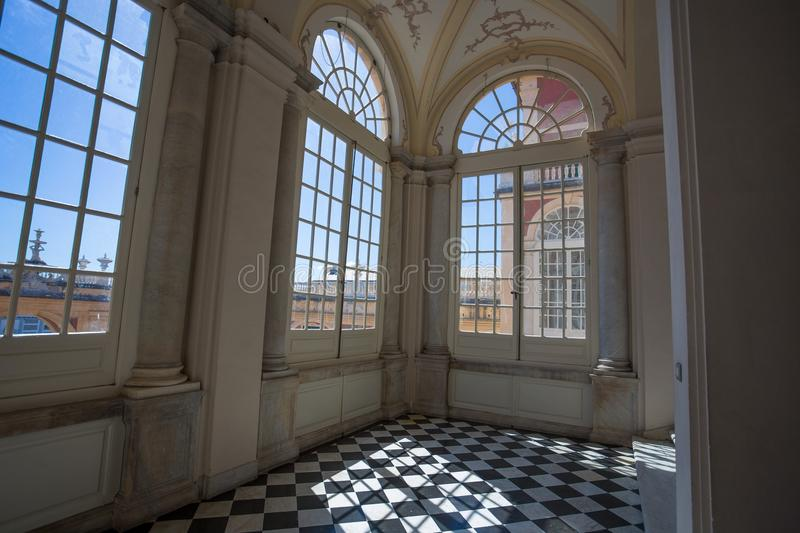 Palazzo Reale in Genoa, Italy, The Royal Palace, in the italian city of Genoa, UNESCO World Heritage Site, Italy. Detail of the m. Palazzo Reale in Genoa, Italy royalty free stock photo