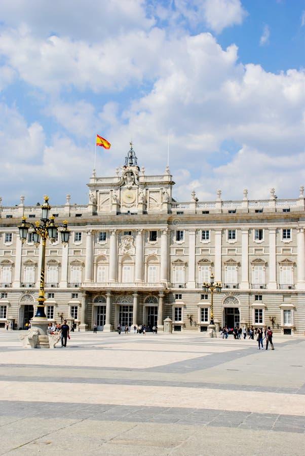 Palazzo reale, Madrid immagini stock libere da diritti