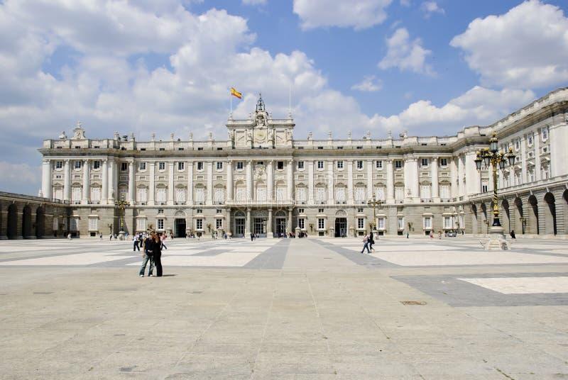 Palazzo reale, Madrid fotografia stock libera da diritti