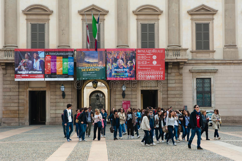 Palazzo Reale in Mailand stockfoto