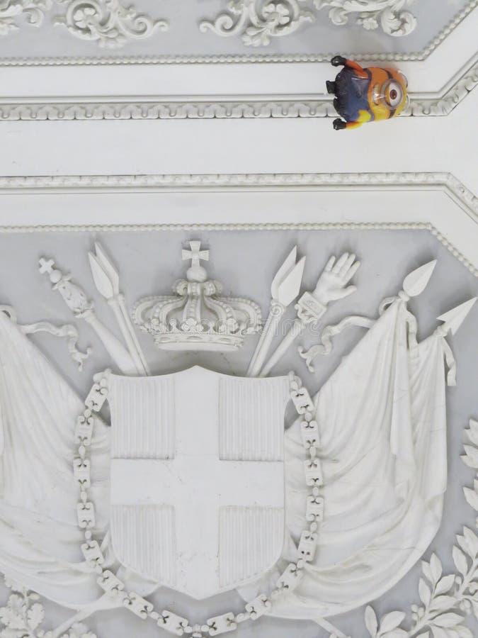 Palazzo Reale - Royal Palace στη Νάπολη, Ιταλία στοκ εικόνα με δικαίωμα ελεύθερης χρήσης