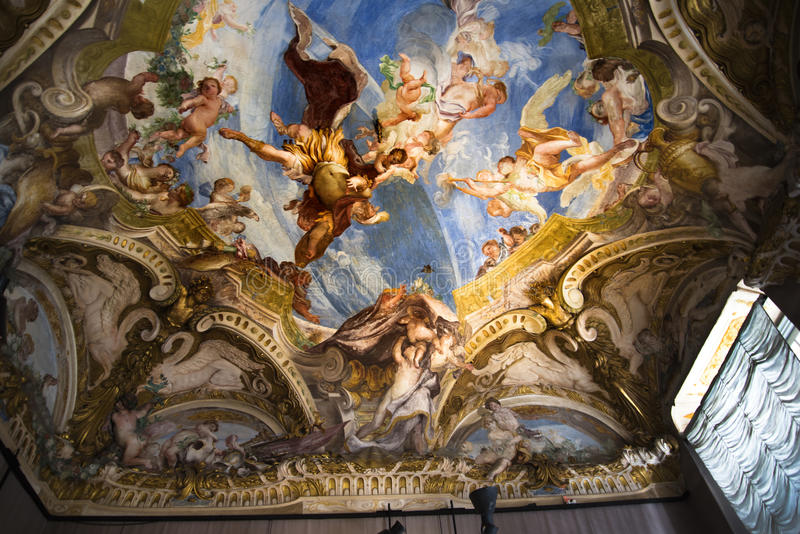 Palazzo Reale is a Savoy mansion and National Museum on the Via Balbi in Genoa Italy. A noble residence, Savoy mansion, and wonderful National Museum in the stock photos
