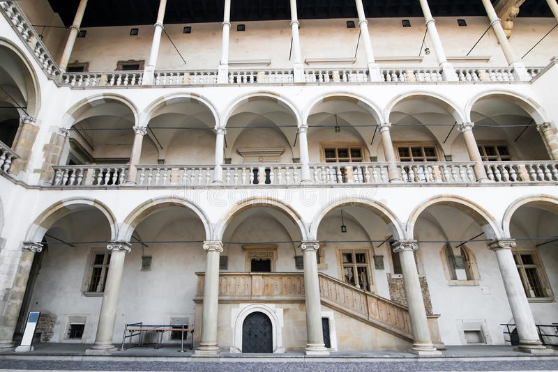 Palazzo reale in Wawe fotografia stock
