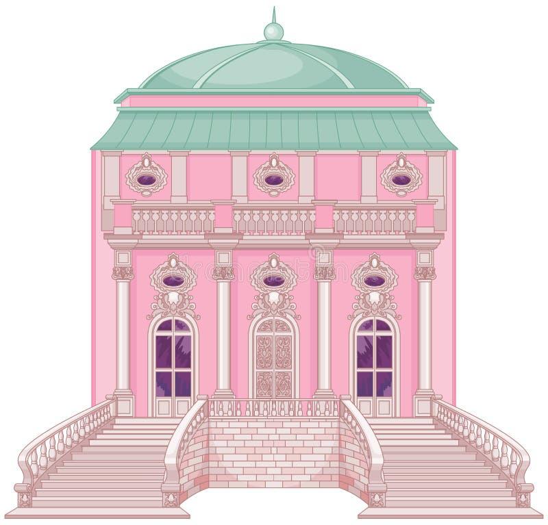Palazzo romantico per una principessa illustrazione di stock