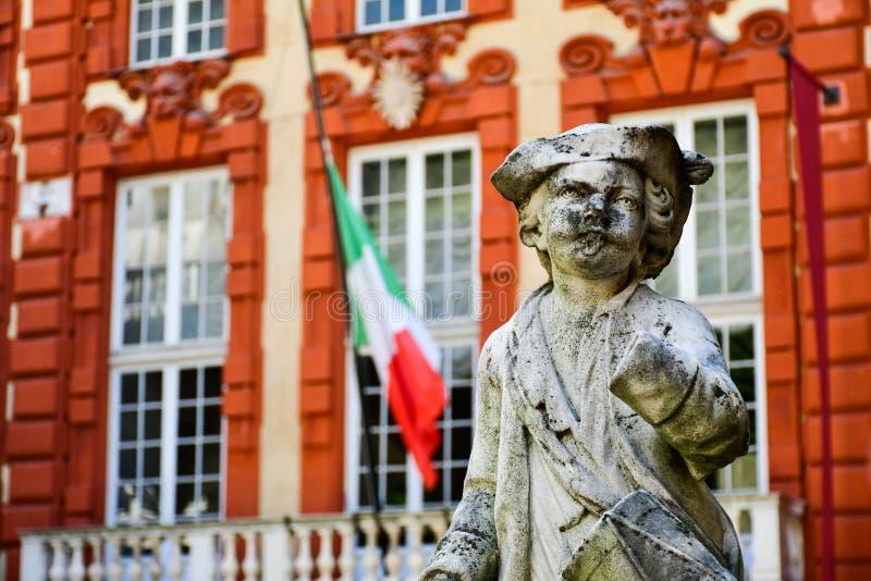 Palazzo Rosso, Γένοβα, Ιταλία στοκ φωτογραφίες