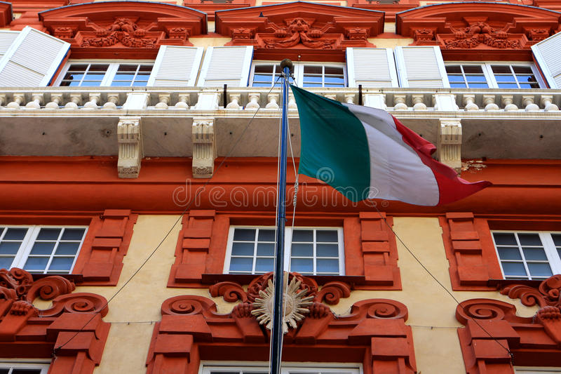 Palazzo Rosso, Γένοβα στοκ εικόνες