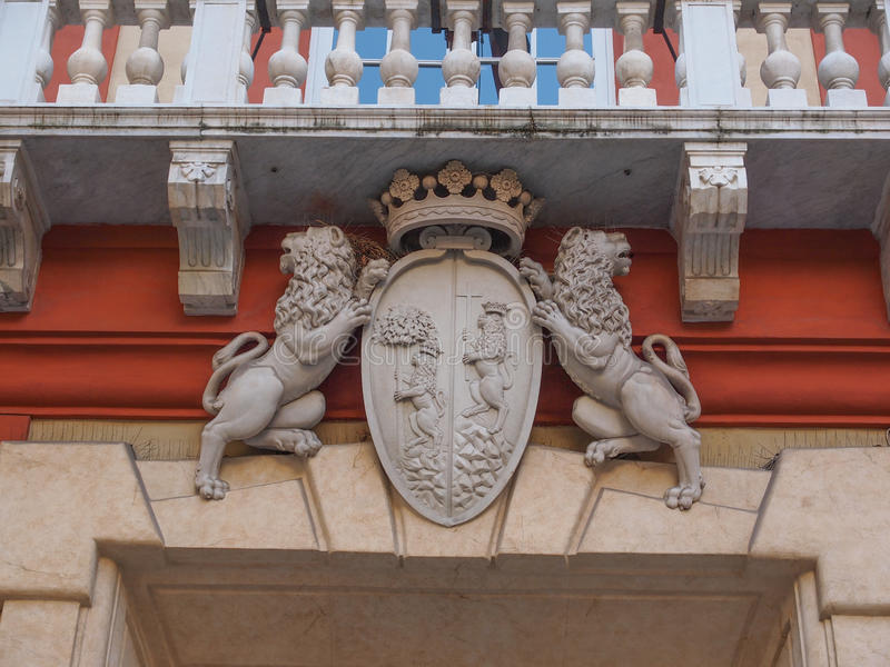 Palazzo Rosso στη Γένοβα Ιταλία στοκ εικόνες