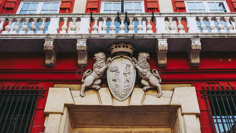 Palazzo Rosso in Genoa Italy. Palazzo Rosso historical palace hosting the picture gallery in Genoa Italy stock photos