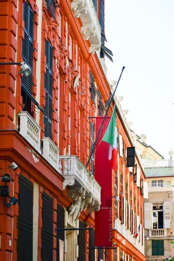 Palazzo Rosso, genua, Włochy zdjęcie royalty free