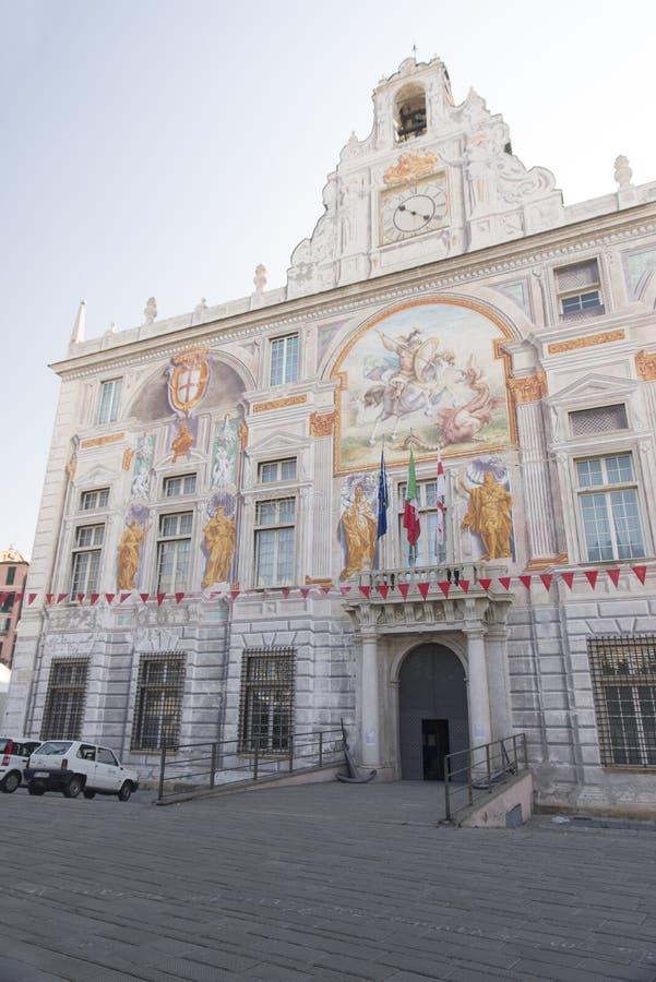 Palazzo San Giorgio, Genova arkivfoto