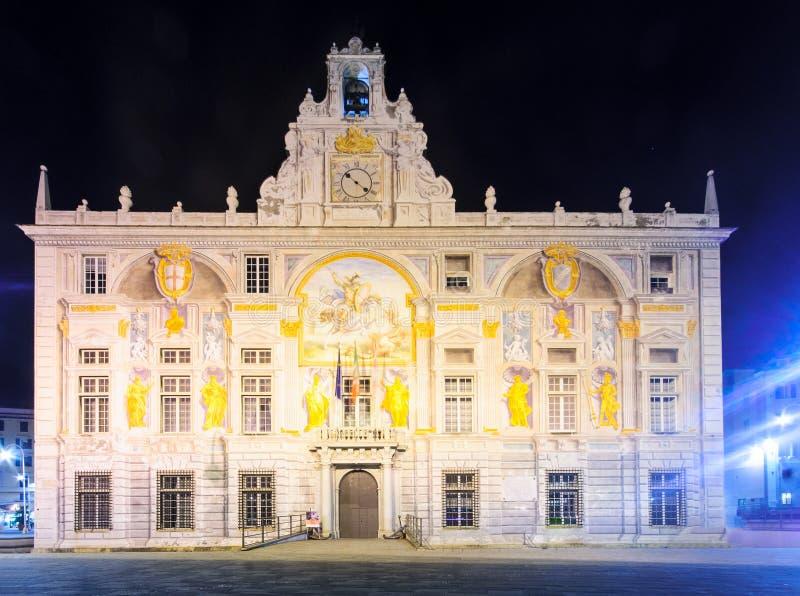 Palazzo san Giorgio, Genova fotografia stock libera da diritti