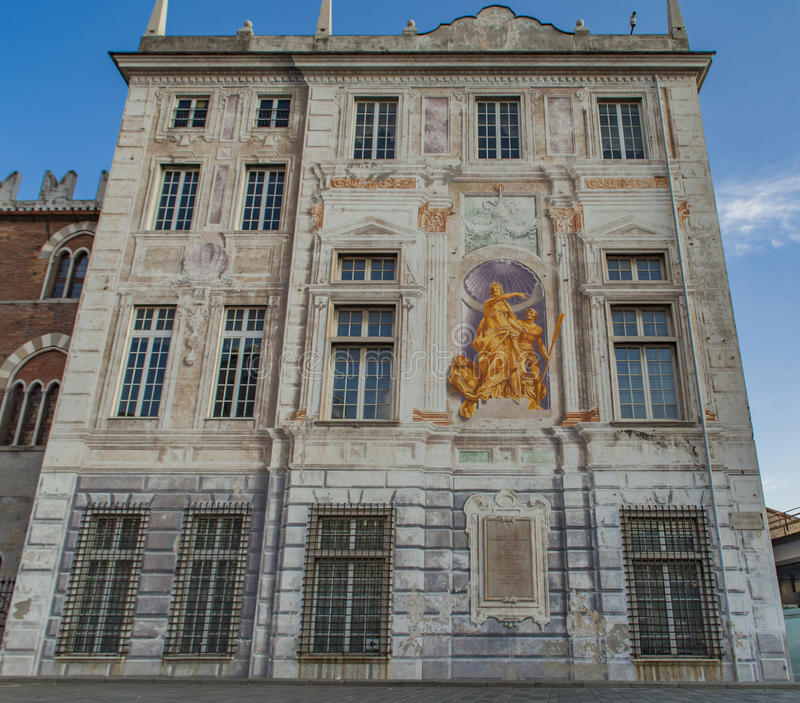 Palazzo San Giorgio a Genova, Italia fotografia stock libera da diritti
