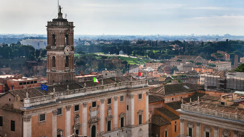 Palazzo Senatorio capitoline muzea zdjęcie stock