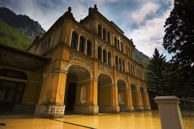Palazzo storico con le storie nascoste. immagini stock