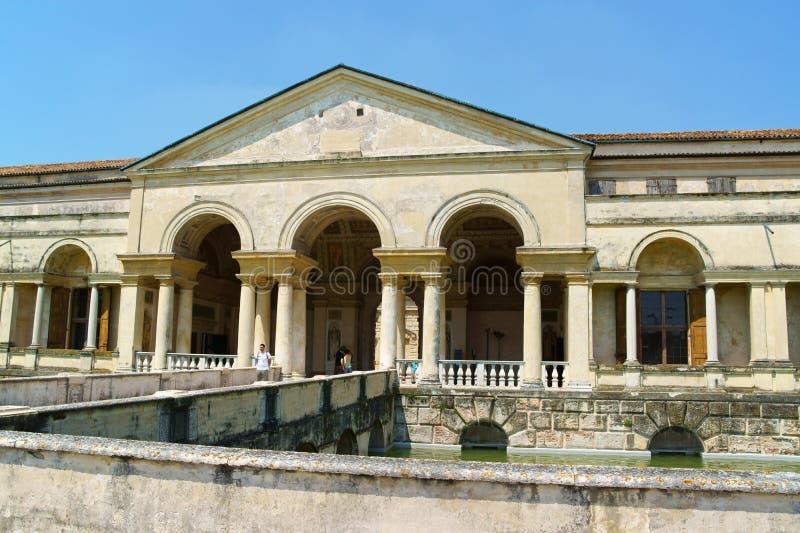 Palazzo Te i Mantua, Italien arkivbild