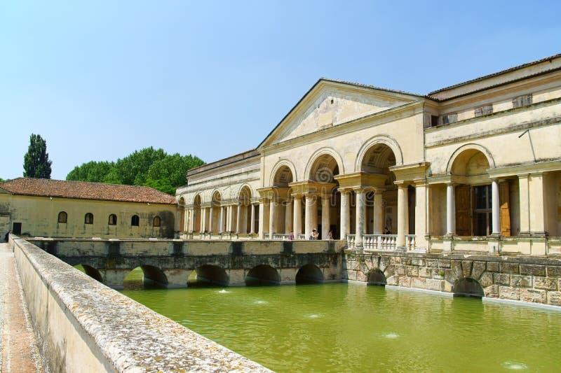 Palazzo Te i Mantua, Italien arkivbilder
