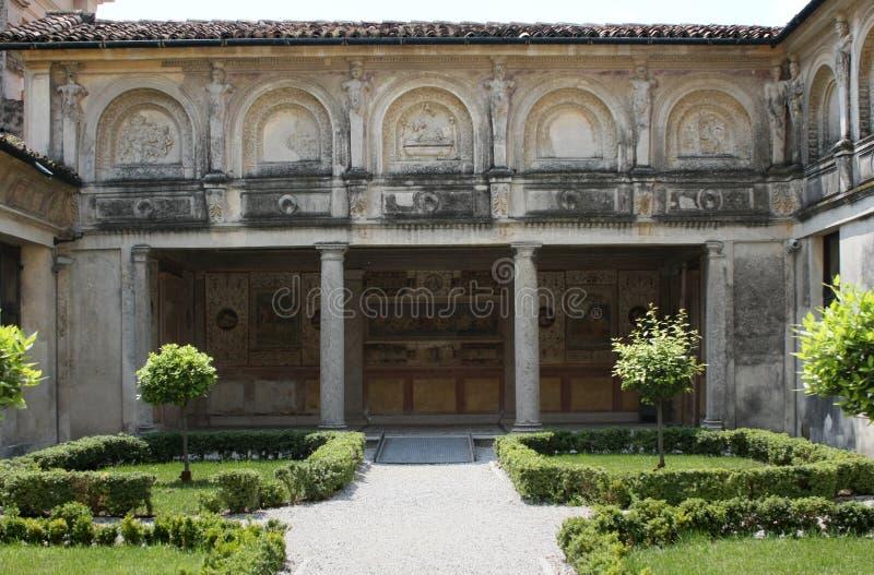 Palazzo Te, Mantova (Italy); the secret garden stock images