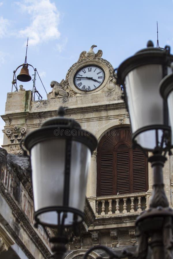 Palazzo Tezzano em Catania, Itália fotografia de stock royalty free