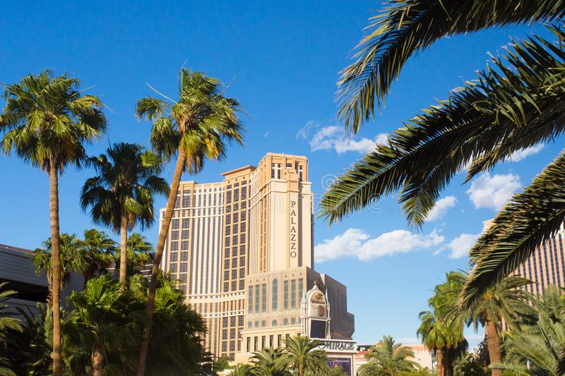 Palazzo Tower at the Venetian hotel resort and casino in Las Vegas royalty free stock photography