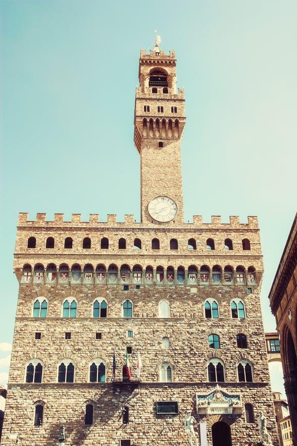 Palazzo Vecchio,佛罗伦萨,意大利,照片过滤器 图库摄影