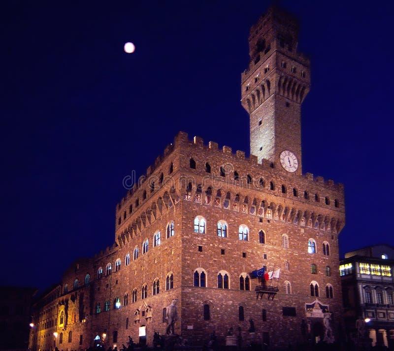 Palazzo Vecchio в аркаде Signoria Флоренсе Италии стоковые изображения rf