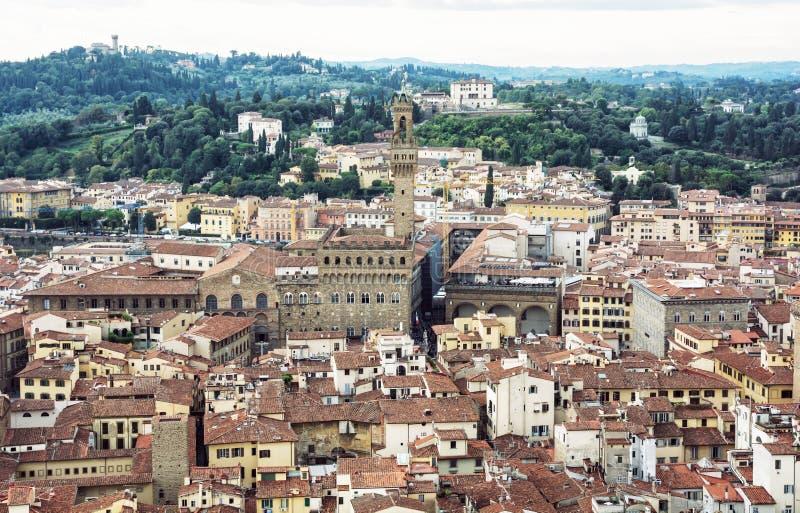 Palazzo Vecchio (老宫殿),佛罗伦萨,意大利,文化遗产 免版税图库摄影