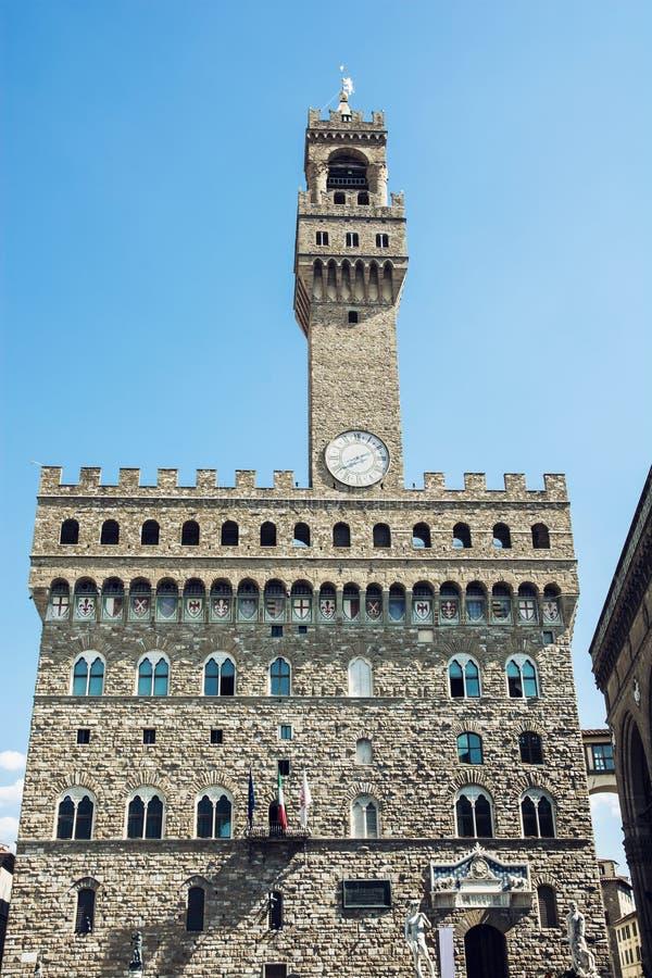 Palazzo Vecchio (老宫殿),佛罗伦萨,意大利 库存图片
