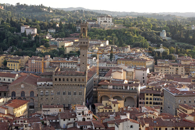 Download Palazzo Vecchio from Above stock image. Image of facade - 25870027