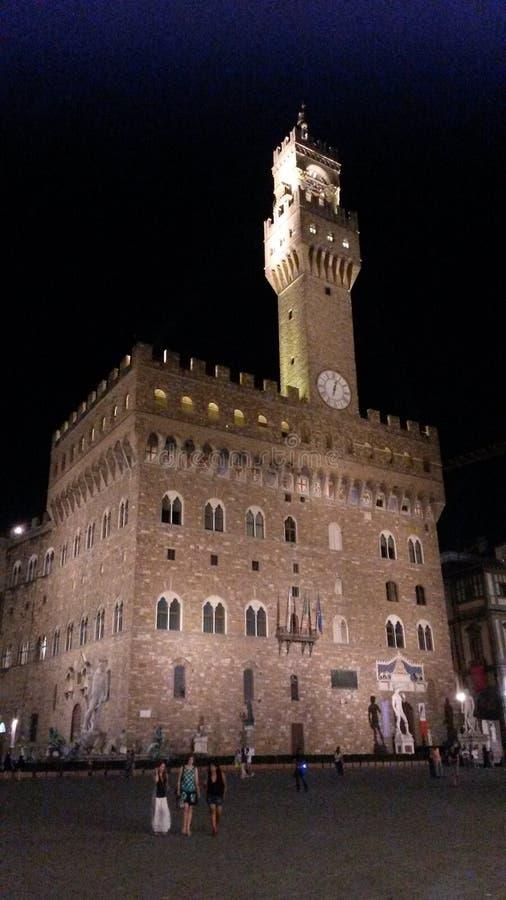 Palazzo-vecchio bis zum Nacht, Florenz, Italien lizenzfreie stockfotografie