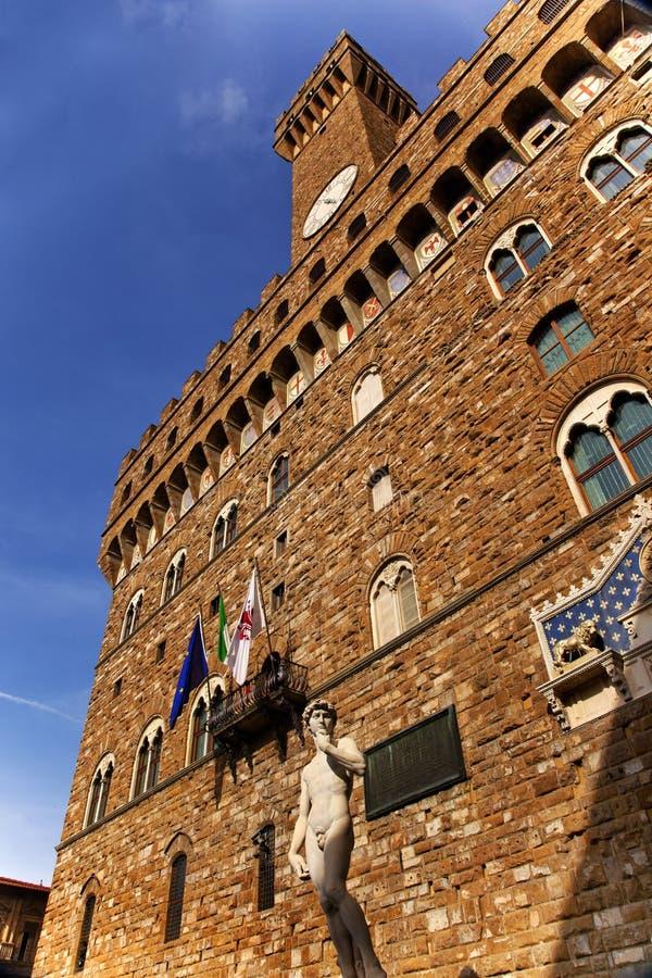 Palazzo Vecchio David Statue Florenz stockfoto