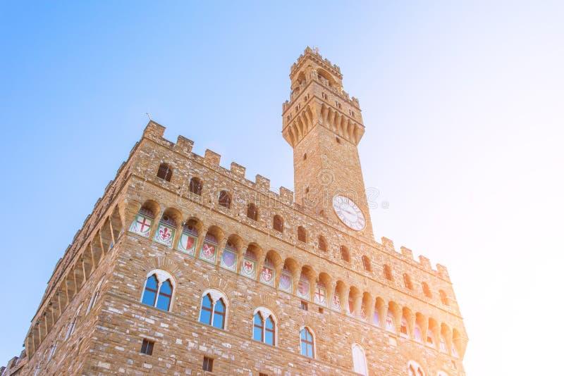 Palazzo Vecchio in della Signoria della piazza a Firenze, Toscana, Italia immagine stock