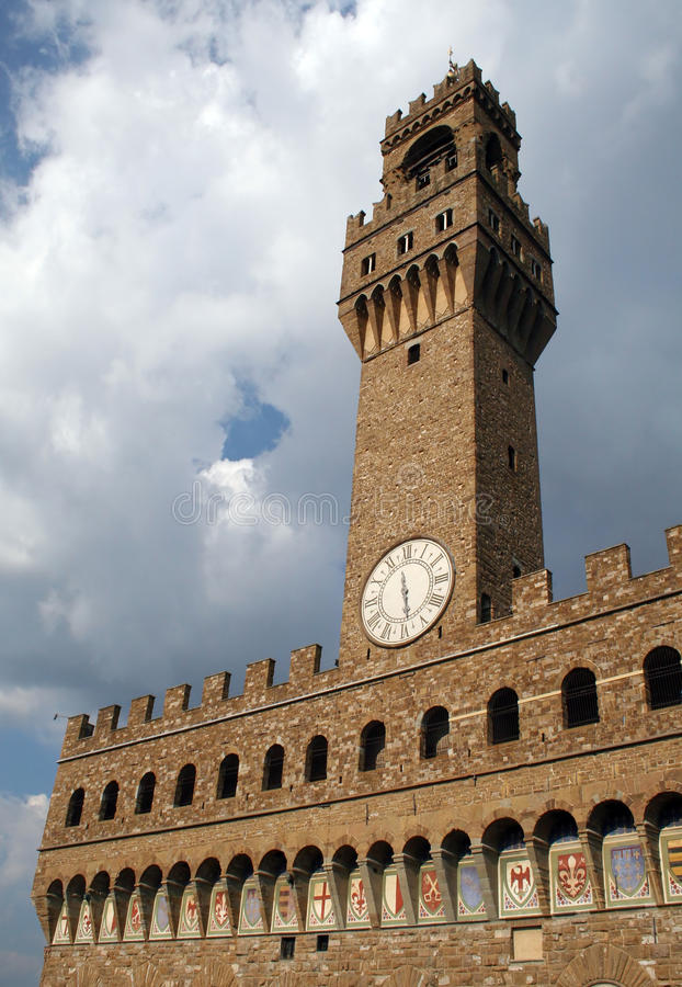 Palazzo Vecchio en Florencia Italia imagenes de archivo